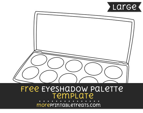 Free Eyeshadow Palette Template - Large