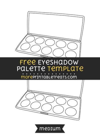 Free Eyeshadow Palette Template - Medium