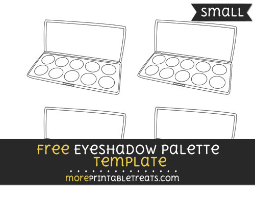 Free Eyeshadow Palette Template - Small