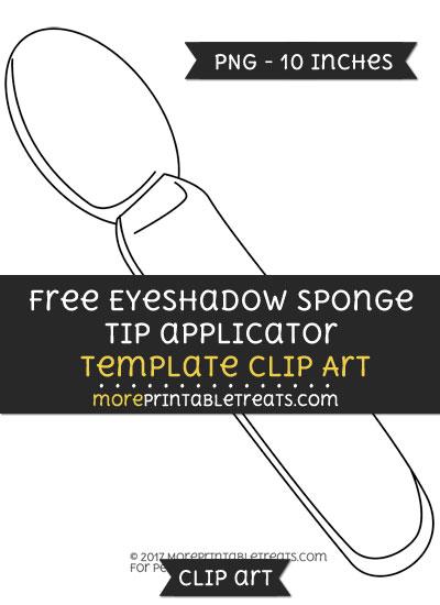 Free Eyeshadow Sponge Tip Applicator Template - Clipart