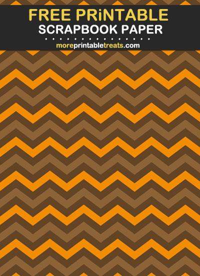 Free Printable Fall Chevron Scrapbook Paper