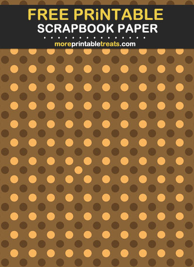 Free Printable Fall Polka Dot Scrapbook Paper