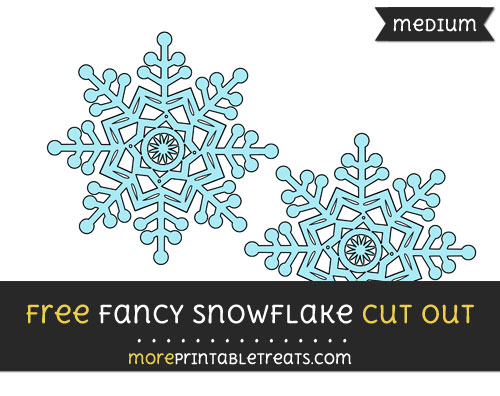Free Fancy Snowflake Cut Out - Medium Size Printable
