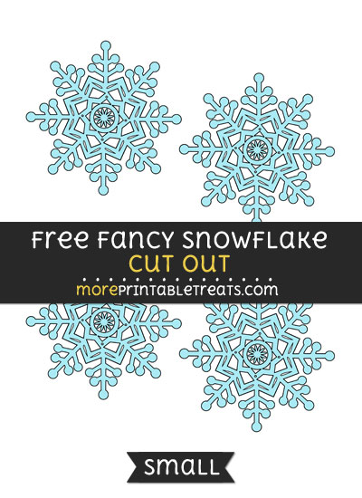 Free Fancy Snowflake Cut Out - Small Size Printable