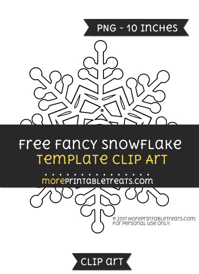 Free Fancy Snowflake Template - Clipart