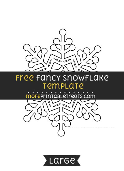 Free Fancy Snowflake Template - Large