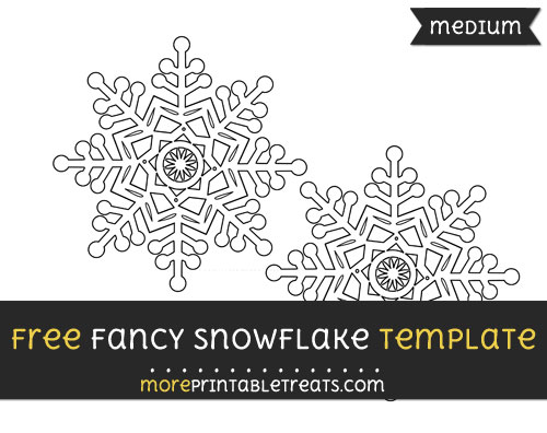 Free Fancy Snowflake Template - Medium