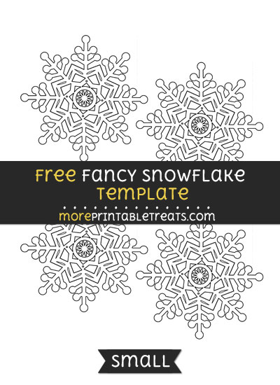 Free Fancy Snowflake Template - Small