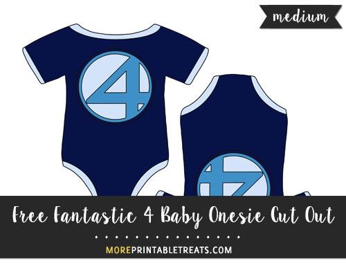 Free Fantastic 4 Baby Onesie Cut Out - Medium