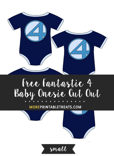 Free Fantastic 4 Baby Onesie Cut Out - Small