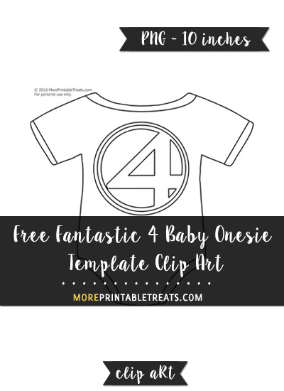 Free Fantastic 4 Baby Onesie Template - Clipart