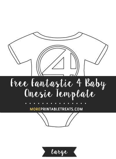 Free Fantastic 4 Baby Onesie Template - Large