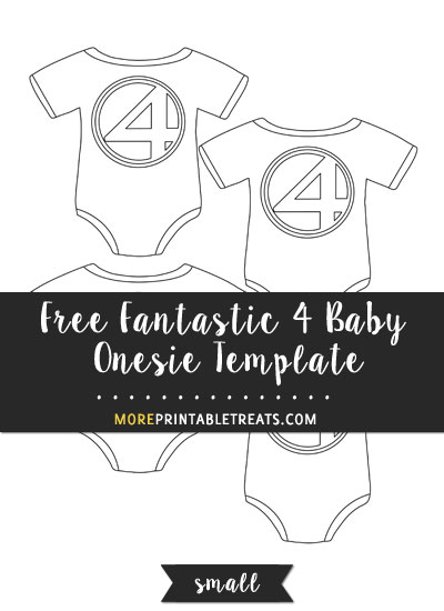 Free Fantastic 4 Baby Onesie Template - Small Size