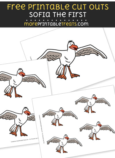 Free Farley Seagull from Sofia the First Cut Outs - Printable - Sofia the First