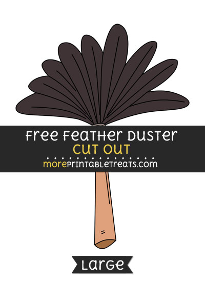 Free Feather Duster Cut Out - Large size printable