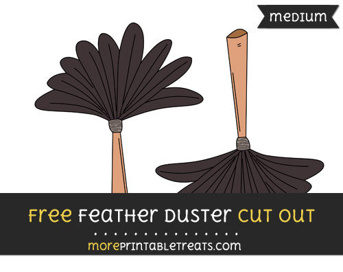 Free Feather Duster Cut Out - Medium Size Printable