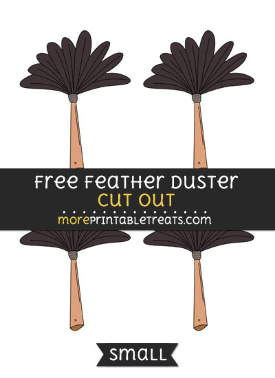 Free Feather Duster Cut Out - Small Size Printable