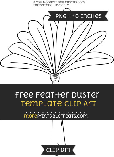Free Feather Duster Template - Clipart