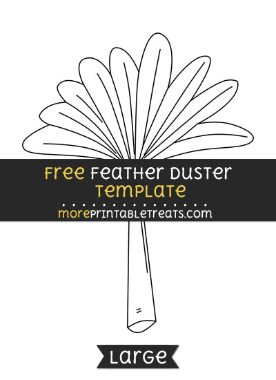Free Feather Duster Template - Large