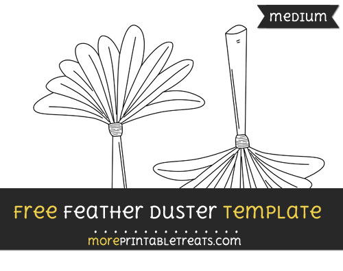 Free Feather Duster Template - Medium