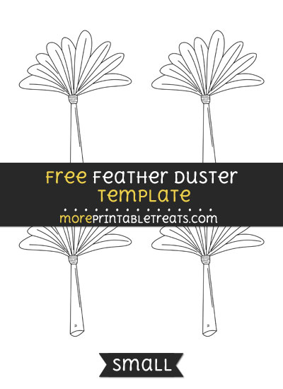 Free Feather Duster Template - Small