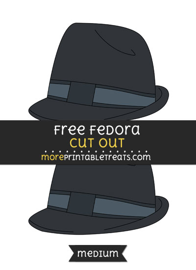 Free Fedora Cut Out - Medium Size Printable