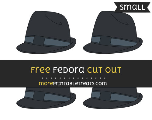 Free Fedora Cut Out - Small Size Printable