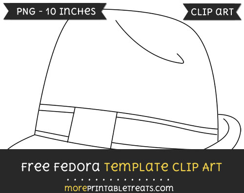 Free Fedora Template - Clipart