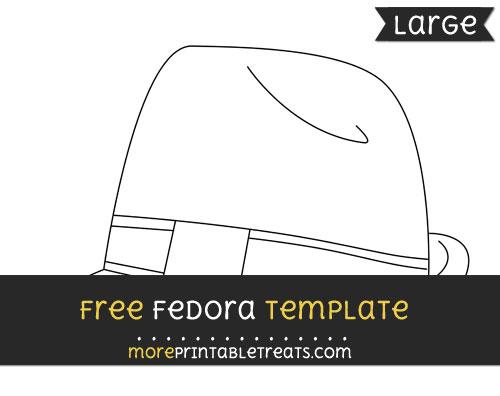 Free Fedora Template - Large