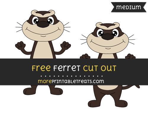 Free Ferret Cut Out - Medium Size Printable