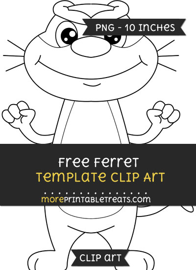Free Ferret Template - Clipart