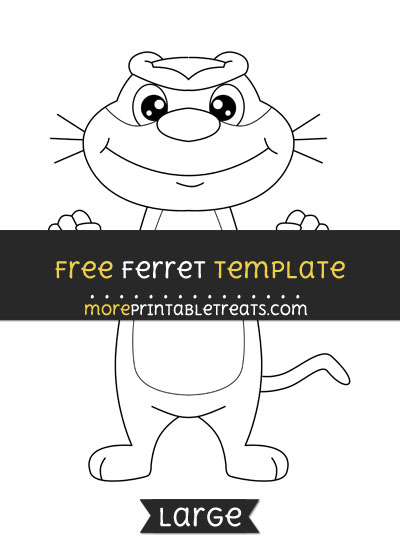 Free Ferret Template - Large