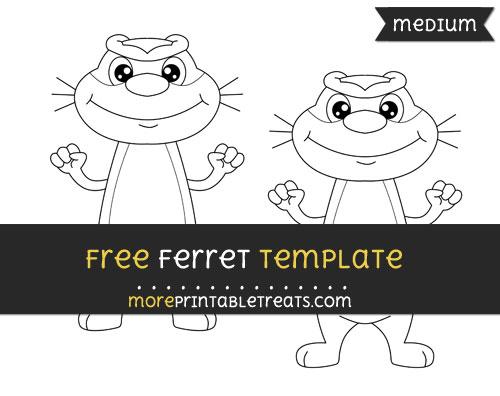Free Ferret Template - Medium