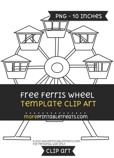 Free Ferris Wheel Template - Clipart