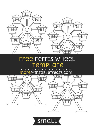 Free Ferris Wheel Template - Small