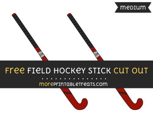 Free Field Hockey Stick Cut Out - Medium Size Printable