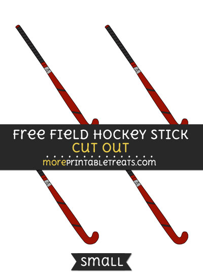 Free Field Hockey Stick Cut Out - Small Size Printable