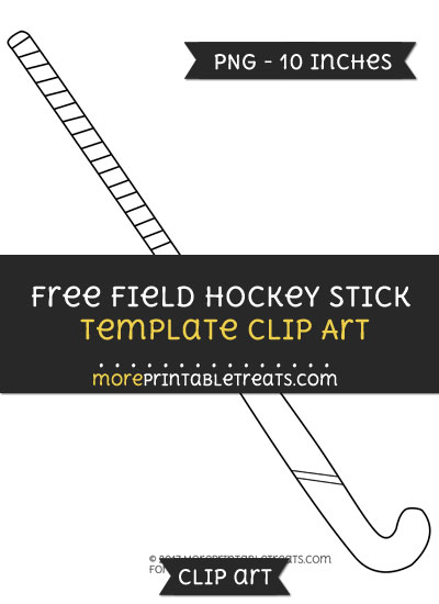 Free Field Hockey Stick Template - Clipart