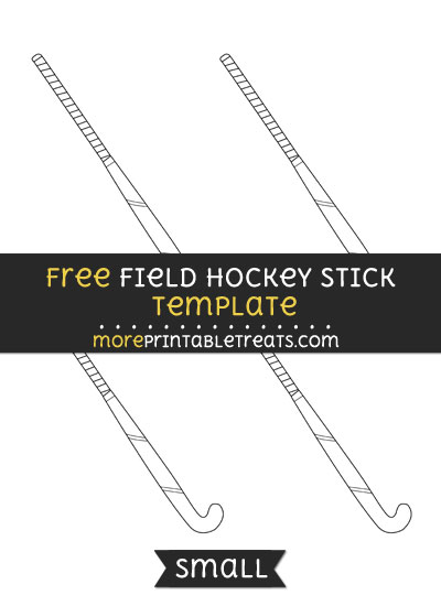 Free Field Hockey Stick Template - Small