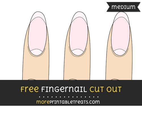 Free Fingernail Cut Out - Medium Size Printable