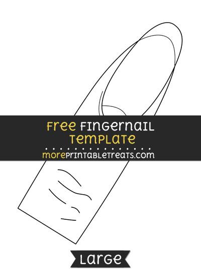 Free Fingernail Template - Large