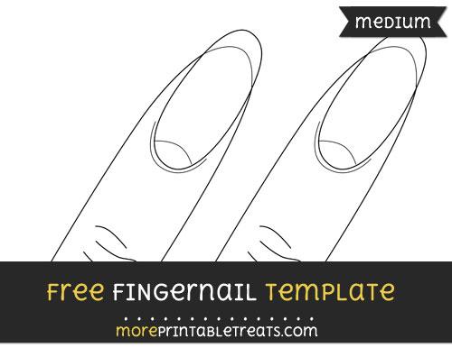 Free Fingernail Template - Medium