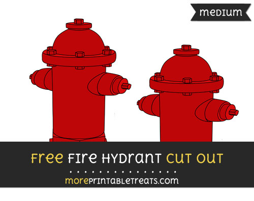 Free Fire Hydrant Cut Out - Medium Size Printable