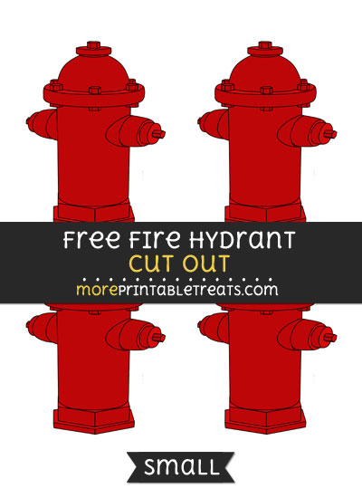 Free Fire Hydrant Cut Out - Small Size Printable