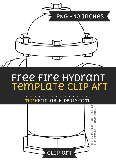 Free Fire Hydrant Template - Clipart
