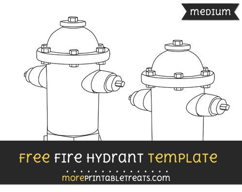Free Fire Hydrant Template - Medium