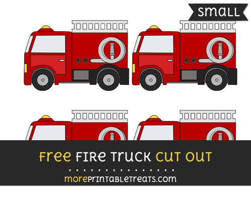 Free Fire Truck Cut Out - Small Size Printable