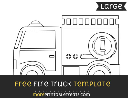 Free Fire Truck Template - Large