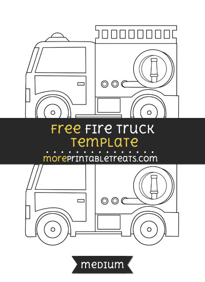 Free Fire Truck Template - Medium