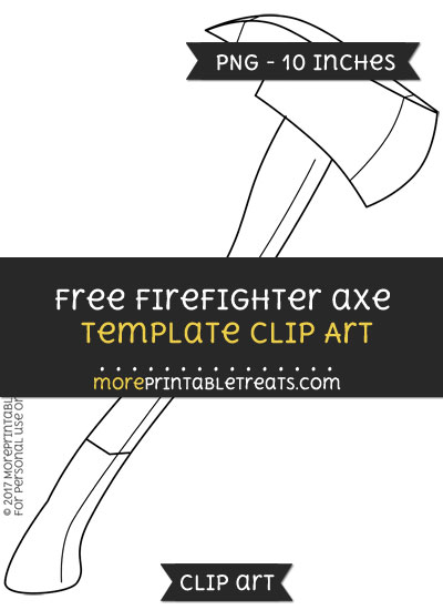 Free Firefighter Axe Template - Clipart